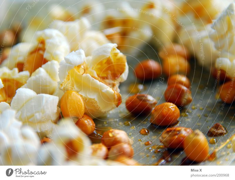 Popping is great! Food Candy Nutrition Fasting Overweight Hot Delicious Sweet Popcorn Bang Bursting Maize Pot Sugar Salty Lean Colour photo Subdued colour