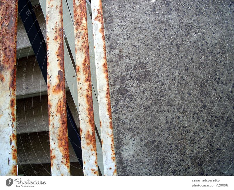 Metal Stairs Living or residing Rust Handrail Patina