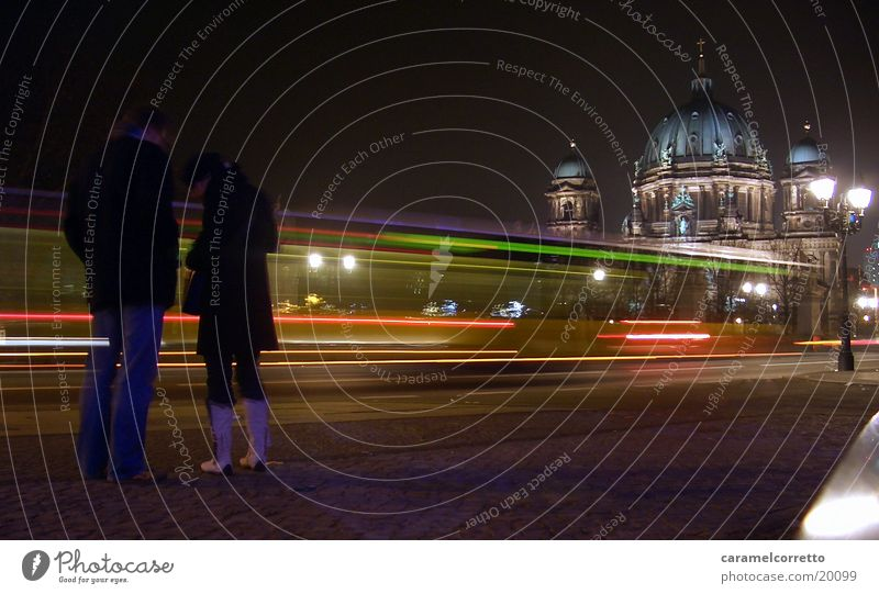 Berlin Architecture To go for a walk Night Pedestrian Night shot Unter den Linden Berlin Cathedral