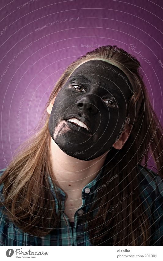 Woman Human being Youth (Young adults) Face Black Eyes Colour Feminine Wall (building) Hair and hairstyles Head Mouth Skin Adults Nose Cool (slang)