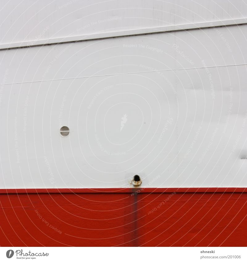 Water White Red Line Metal Dirty Navigation Drainage Cruise Rivet Watercraft Abstract Passenger ship Cruise liner