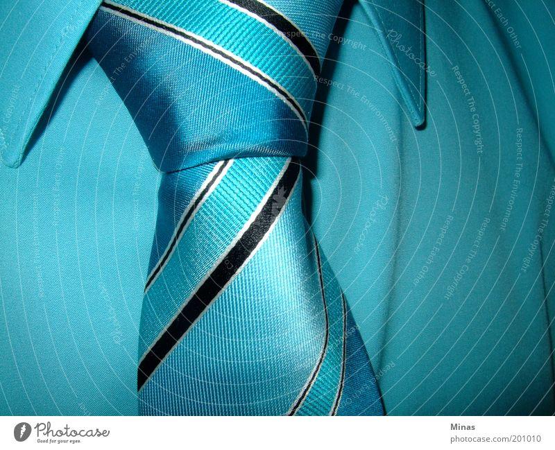 Blue Style Adults Elegant Fashion Arrangement Masculine Future Stripe Cloth Shirt Society Belief Rich Tie Self-confident