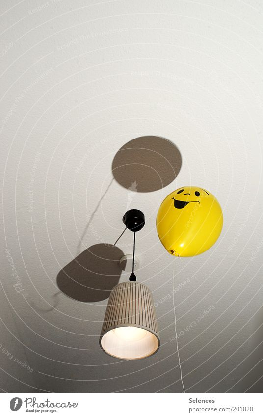 Joy Yellow Lamp Above Happy Laughter Air Room Flat (apartment) Flying Free Happiness Balloon Toys Joie de vivre (Vitality)