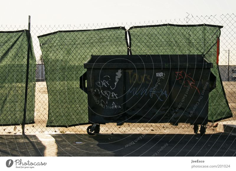 Sky Life Dark Dirty Threat USA End Trash Fence Luxury Trashy Container Sharp-edged Trash container Concealed Vice