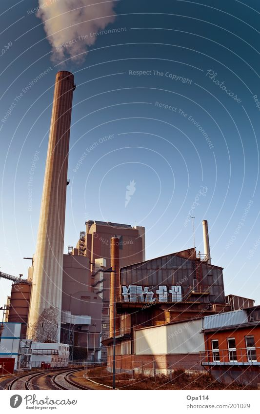 Blue Gray Building Brown Architecture Environment Industry Factory Transience Smoke Trashy Exhaust gas Chimney Industrial plant Workplace