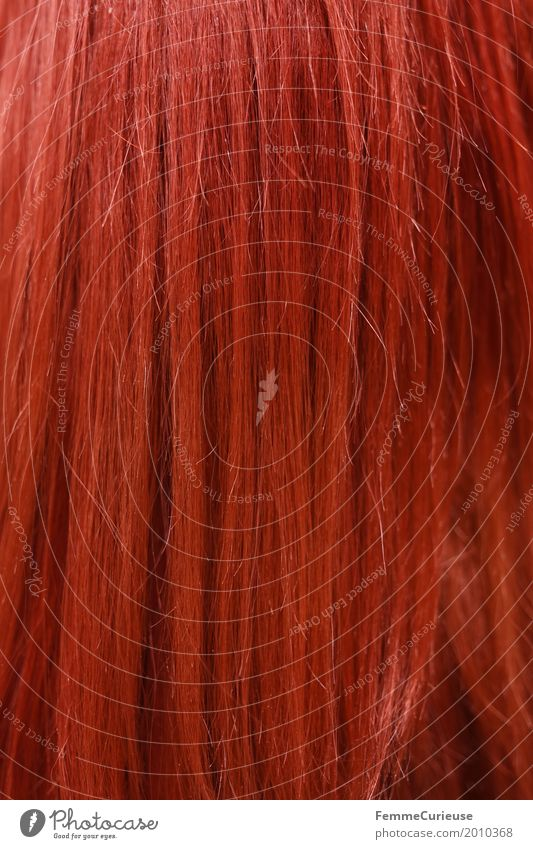 Hair structure (02) Red-haired Long-haired Curl Beautiful Hair and hairstyles Hair Stylist Colour Colouring Henna red Fiery Smooth hair Hair structures