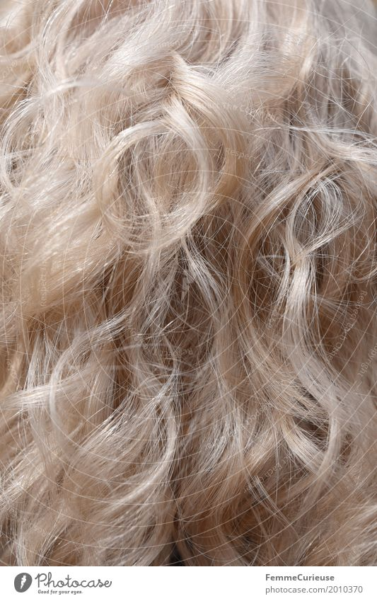 Hair structure (01) Hair and hairstyles Blonde Gray-haired White-haired Long-haired Curl Hip & trendy Curly Colour Natural Soft Hair Stylist Hair structures