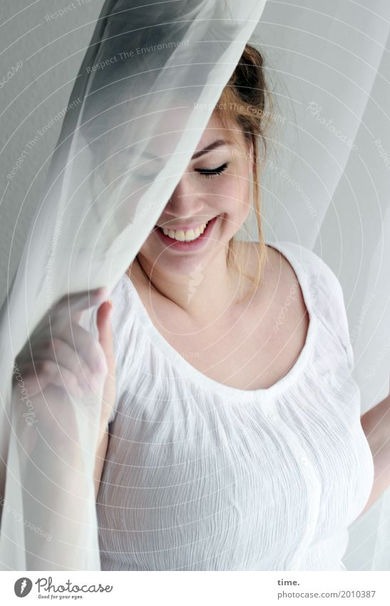 Human being Woman Beautiful Joy Adults Life Feminine Laughter Time Dream Room Fresh Happiness To enjoy Wait Joie de vivre (Vitality)