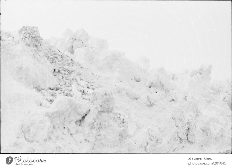 pigment absence Snow Ice Heap Structures and shapes Arrangement Accumulation Landscape Boredom Winter Snow mountain Deserted White