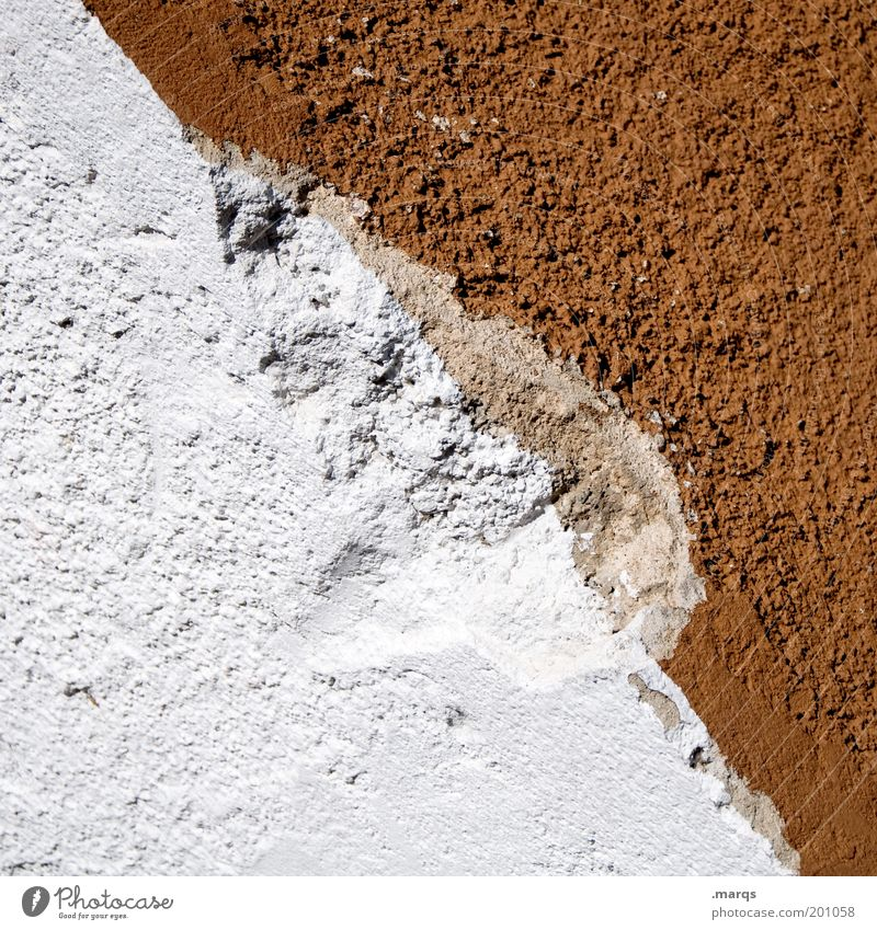outburst Wall (barrier) Wall (building) Facade Old Brown White Decline Division Colour photo Exterior shot Detail Pattern Structures and shapes Copy Space left