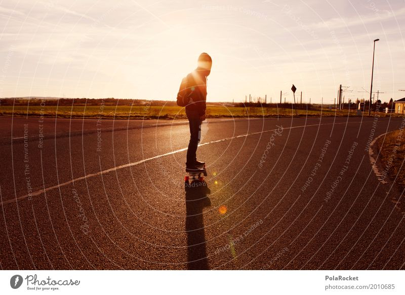 #AS# Into The Sunset Lifestyle Elegant Joy Esthetic Closing time Asphalt Hooded sweater Relaxation Youth (Young adults) Youth culture Street Athletic Balance