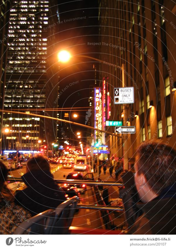 Broadway Vacation & Travel Night In transit North America Human being Blur Looking