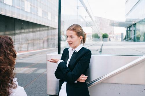 To talk Feminine Business Work and employment Success Beginning Idea Planning Break Team Education Adult Education Profession Meeting Luxury Advice