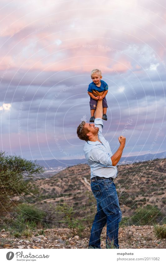 Human being Child Nature Man Landscape Joy Adults Boy (child) Happy Above Friendship Leisure and hobbies Wild Masculine Infancy Happiness