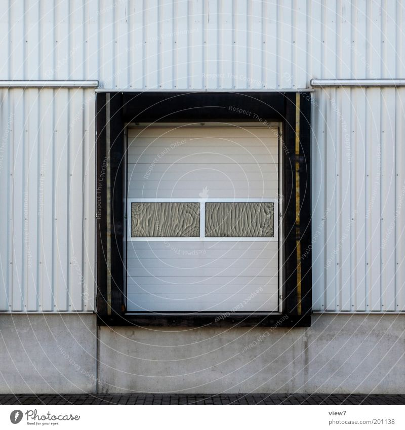 Window Gray Line Metal Facade Industry Modern Arrangement New Logistics Factory Authentic Simple Stripe Gate Services