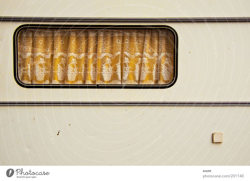 Old Loneliness Window Living or residing Stripe Retro Camping Drape Curtain Socket Connection Thrifty Caravan Technology