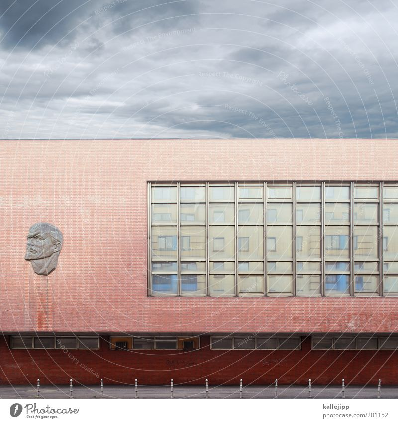mental block Human being Masculine Man Adults Head Face 1 Art Work of art Sculpture Architecture Idea Innovative Inspiration Might Lenin Leninism Communism
