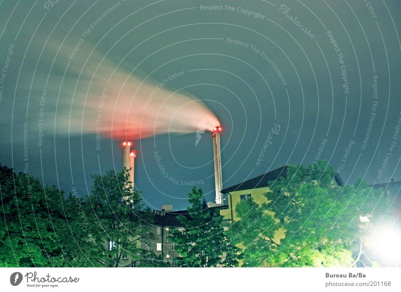 Sky Blue White Green Red Emotions Wind Esthetic Climate Authentic Factory Exhaust gas Chimney Capital city Blow Climate change