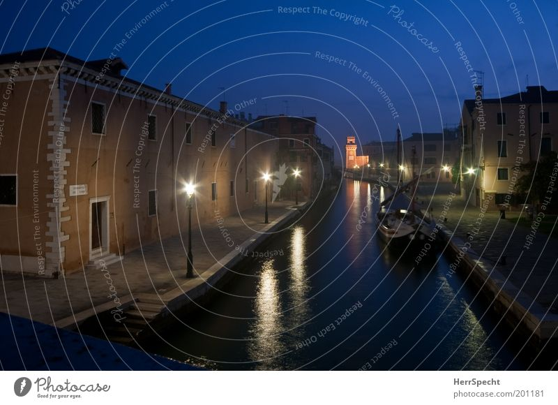 Rio dell'Arsenale Night sky Coast Venice Italy Town Port City Old town Deserted House (Residential Structure) Manmade structures Building Architecture