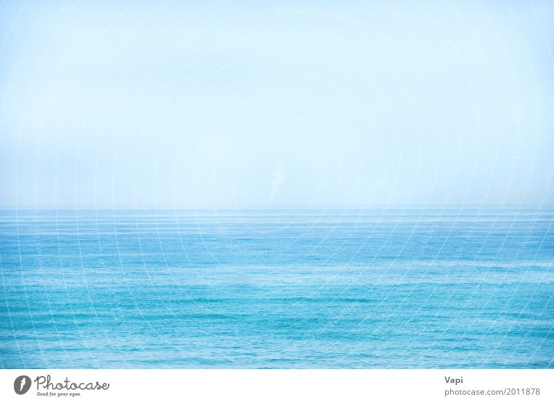 Calm blue sea and clear sky Vacation & Travel Far-off places Freedom Summer Summer vacation Sun Ocean Waves Environment Nature Landscape Water Sky Cloudless sky
