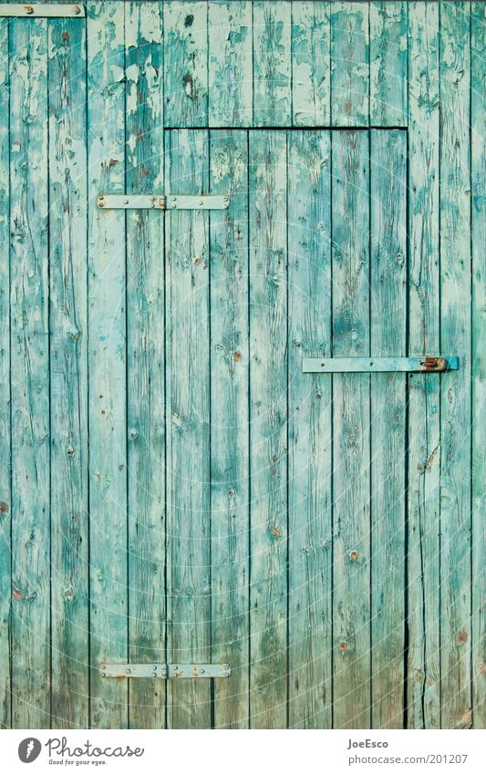 Beautiful Old Blue Garden Wood Door Closed Lifestyle Living or residing Farm Curiosity Barn Wooden wall House (Residential Structure) Garden plot