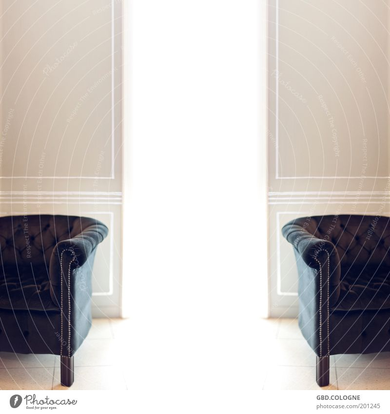 Old White Calm Wall (building) Bright Brown Room Flat (apartment) Elegant Interior design Esthetic Retro Furniture Luxury Living room Armchair