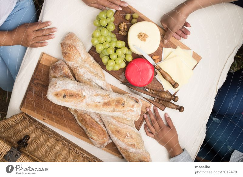 laid table Food Cheese Bread Breakfast Buffet Brunch Picnic Organic produce Vegetarian diet Lifestyle Joy Summer Feasts & Celebrations Thanksgiving Woman Adults
