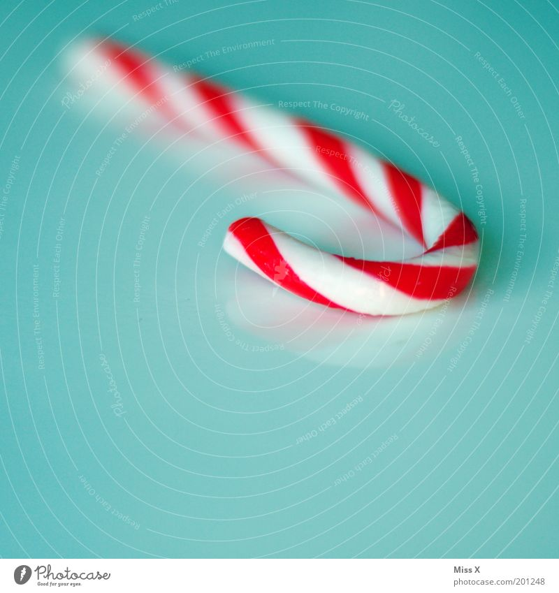 candy cane Food Candy Nutrition Decoration Delicious Sweet Candy cane Sugar Unhealthy Hard Red White Striped Isolated Image Colour photo Multicoloured
