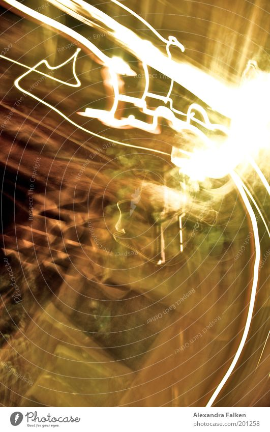 White Yellow Street Playing Line Lighting Speed Tracks Radiation Curve Abstract Visual spectacle Progress Reaction Haste Exposure