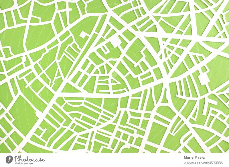 Paper cut city map with streets Design Vacation & Travel Tourism City trip Park Town Places Traffic infrastructure Street Crossroads Lanes & trails Exceptional