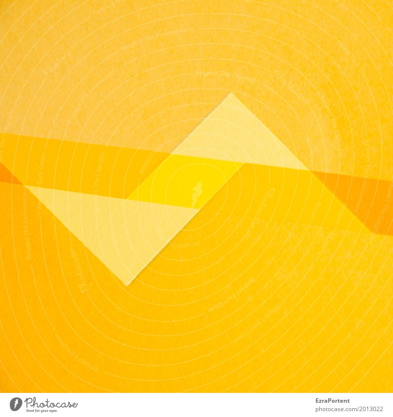 Colour Yellow Background picture Style Orange Design Line Copy Space Decoration Gold Point Paper Advertising Double exposure Handicraft Zigzag