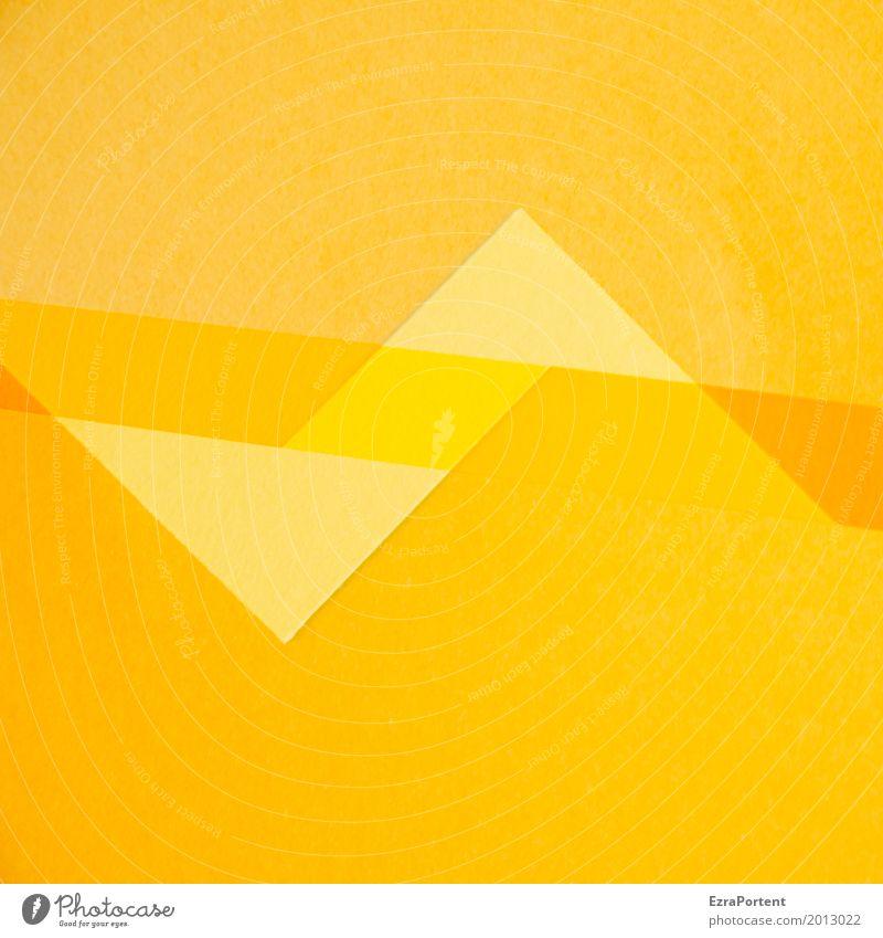 ZackZick Style Design Handicraft Decoration Paper Yellow Gold Orange Colour Advertising Background picture Double exposure Point Zigzag Line Copy Space