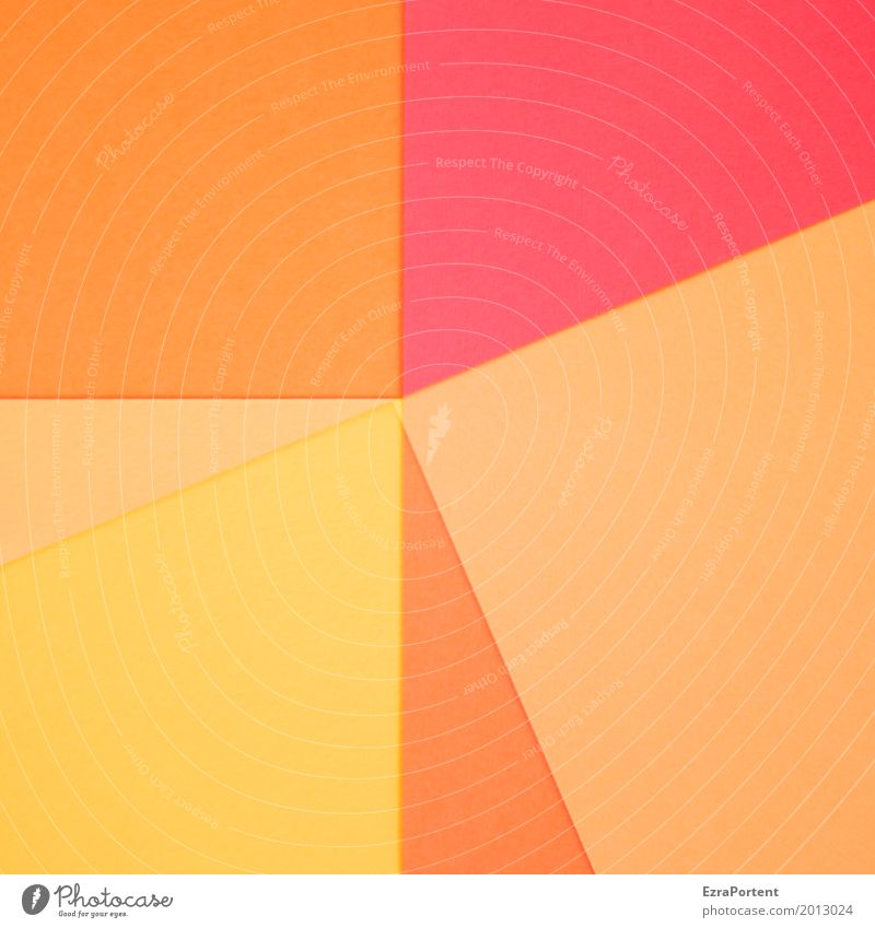 Colour Red Yellow Background picture Style Orange Design Line Copy Space Decoration Esthetic Paper Illustration Advertising Graphic Geometry