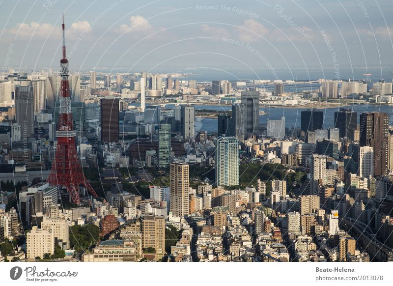 Crossing the border | Countless to the city center of Tokyo Vacation & Travel Tourism Far-off places City trip Environment Sky Beautiful weather Japan Asia