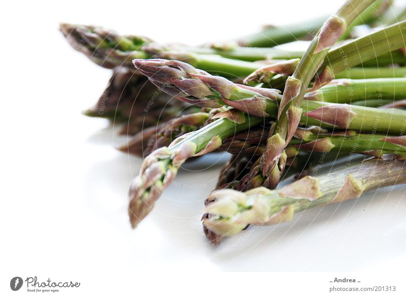 Green asparagus Vegetable Lie Vitamin Healthy Asparagus Asparagus head To enjoy Macro (Extreme close-up) Close-up Spring Bundle Asparagus season Fresh asparagus