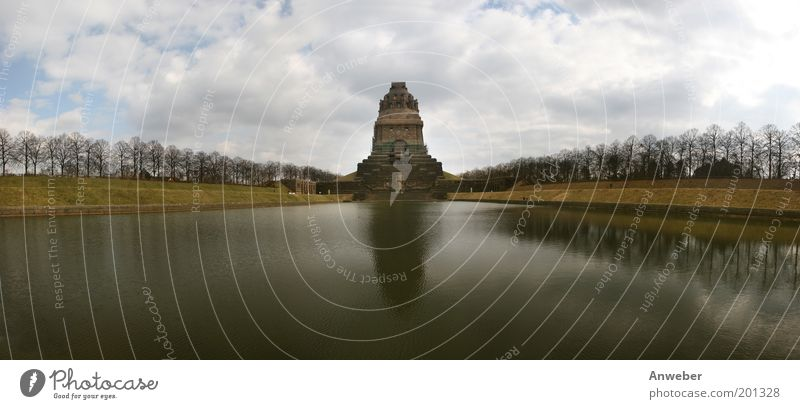 Panorama Battle of the Nations Monument in Leipzig Vacation & Travel Tourism Sightseeing City trip Landscape Park Lake Saxony Germany Europe Manmade structures
