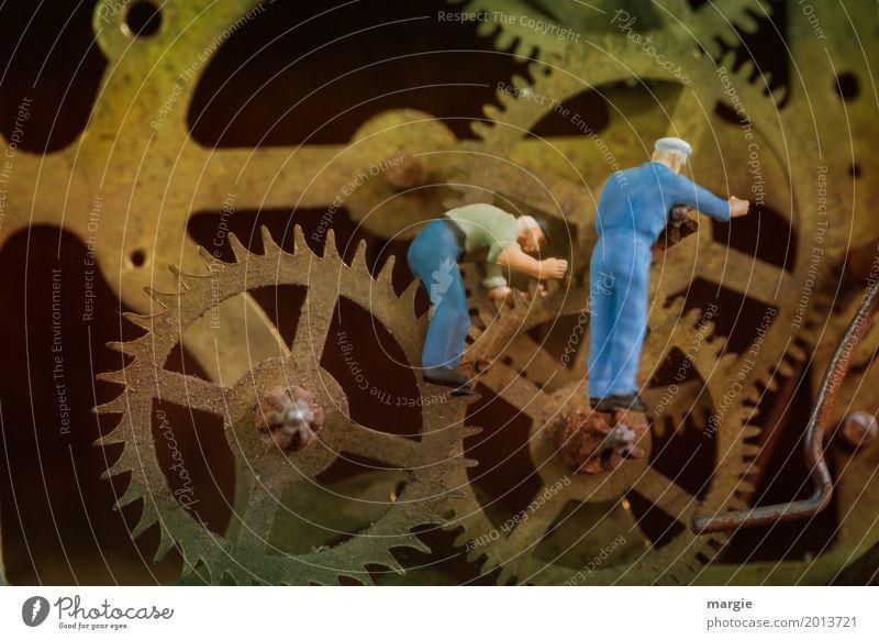 Miniwelten - Time Machine Work and employment Profession Craftsperson Workplace Construction site Services Craft (trade) Machinery Time machine