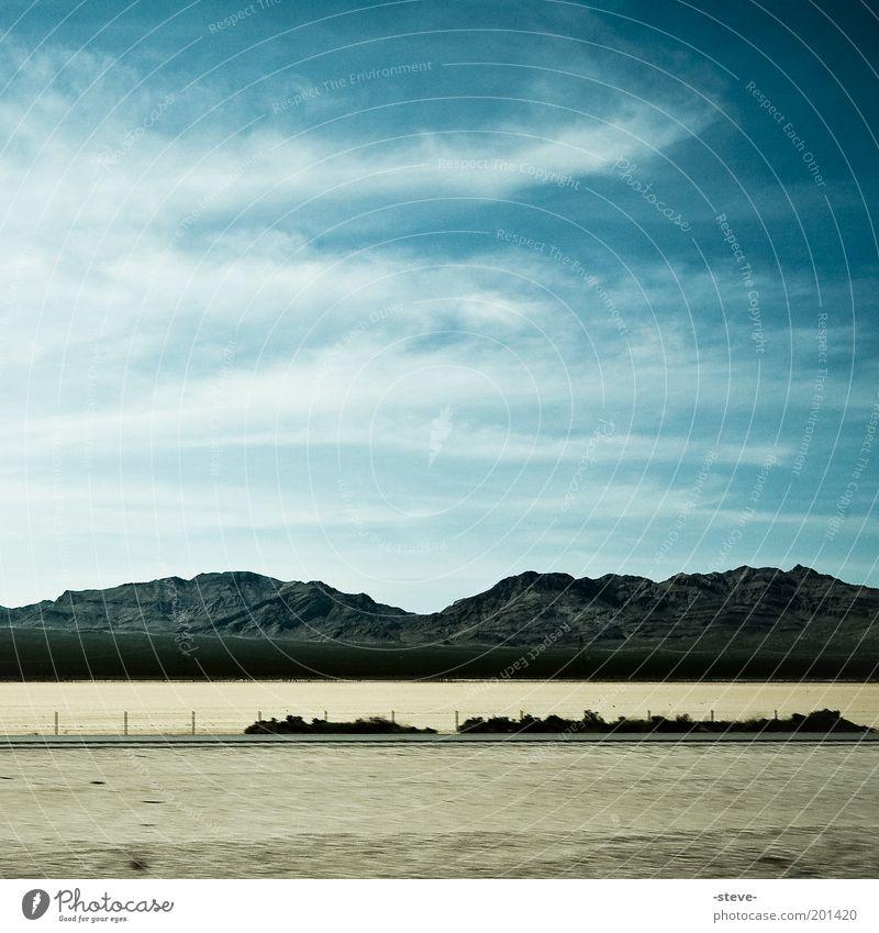 Sky Blue Clouds Mountain Sand Landscape Brown Desert Nevada
