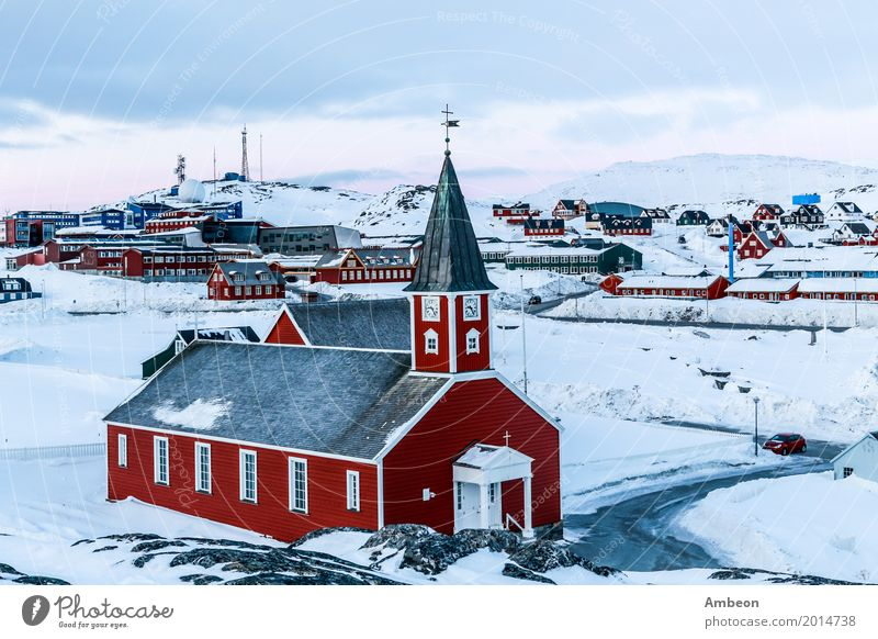 Annaassisitta Oqaluffia, church of our Saviou Vacation & Travel Tourism Winter House (Residential Structure) Nature Landscape Climate Weather Ice Frost Snow