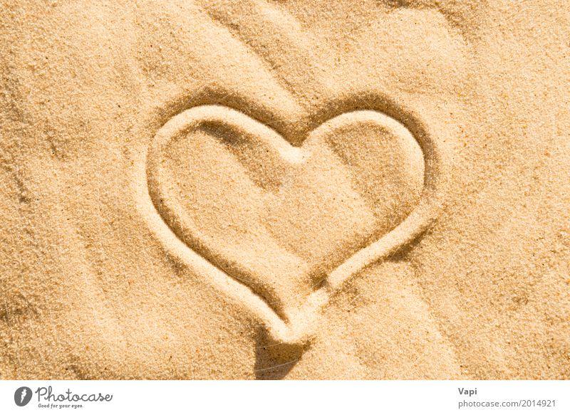Heart sign Nature Summer Relaxation Beach Yellow Love Health care Sand Orange Island Romance Wedding Symbols and metaphors Peace Conceptual design
