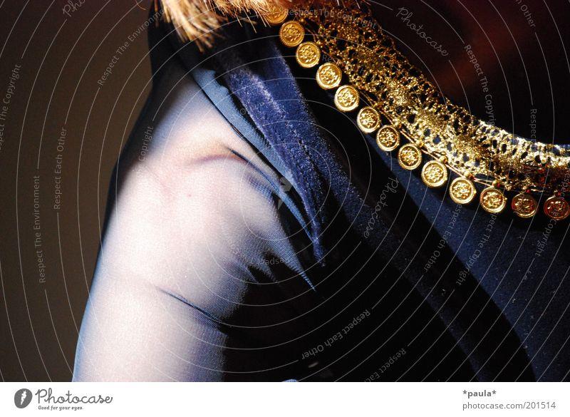 Woman Human being Beautiful Blue Black Feminine Dream Fashion Glittering Adults Arm Gold Elegant Esthetic Culture
