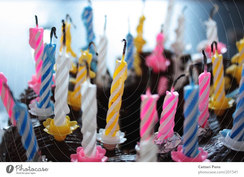birthday candles Food Dough Baked goods Nutrition Feasts & Celebrations Birthday Decoration Candle Desire Candlewick Birthday cake Cake Deserted Colour photo