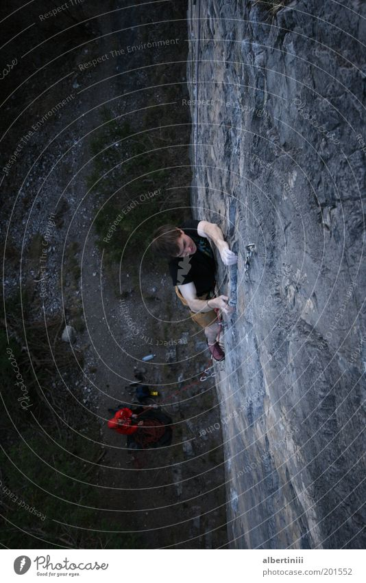 Human being Man Nature Youth (Young adults) Adults Environment Sports Leisure and hobbies Rock Tall Masculine Adventure 18 - 30 years Uniqueness Climbing Alps
