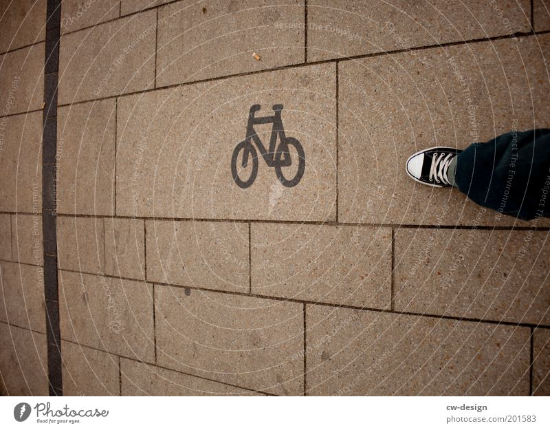 Human being Man Youth (Young adults) White City Black Adults Architecture Lanes & trails Legs Feet Line Footwear Bicycle Going Signs and labeling
