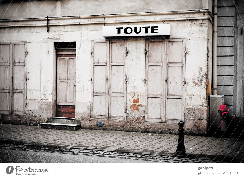 Old City House (Residential Structure) Wall (building) Window Gray Wall (barrier) Building Architecture Door Poverty Facade Closed Characters Broken Authentic