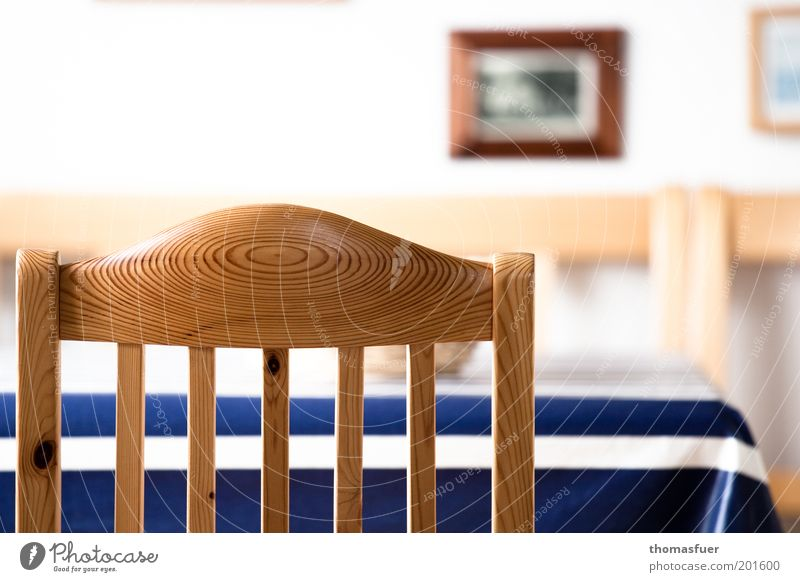 White Blue Calm Loneliness Brown Wait Flat (apartment) Table Chair Simple Image Living or residing Furniture Backrest Dining room