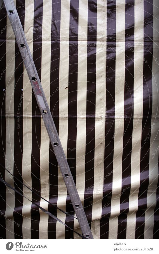 Planned Gray Black White Symmetry Ladder Stripe Line Covers (Construction) Tent Drape Beer tent Protection Colour photo Subdued colour Exterior shot Abstract