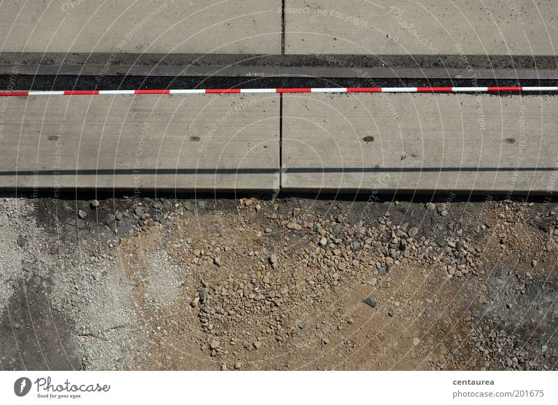White Red Gray Stone Sand Brown Concrete Earth Simple Construction site Firm Barrier Bird's-eye view Dividing line
