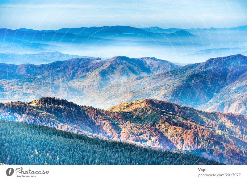 Ranges of mountains and hills Vacation & Travel Tourism Adventure Far-off places Summer Sun Mountain Nature Landscape Sky Clouds Sunrise Sunset Sunlight Spring