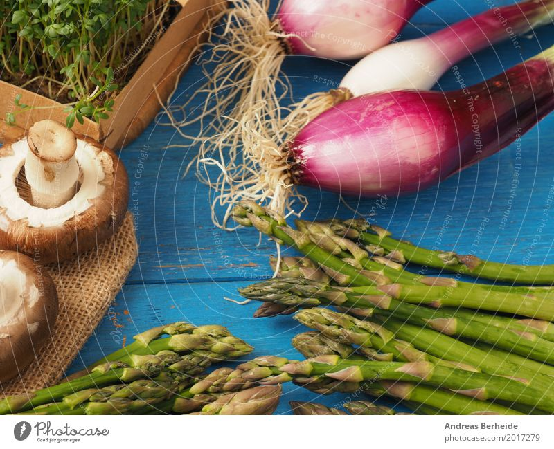 Ingredients Vegetable Organic produce Vegetarian diet Healthy Delicious Asparagus color cress fresh garlic Gourmet green Italian natural onions organic raw ripe